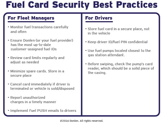 fleet fuel card security best practices