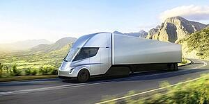 Tesla electric semi trucks
